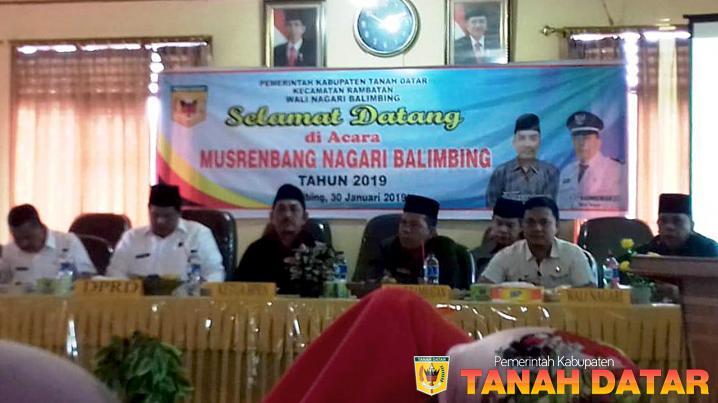 Musrenbang Nagari Balimbing, Wali Nagari Paparkan Tiga Program Prioritas
