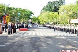 KAPOLRES PIMPIN APEL KESIAPAN POLRI DAN TNI PENGAMANAN..