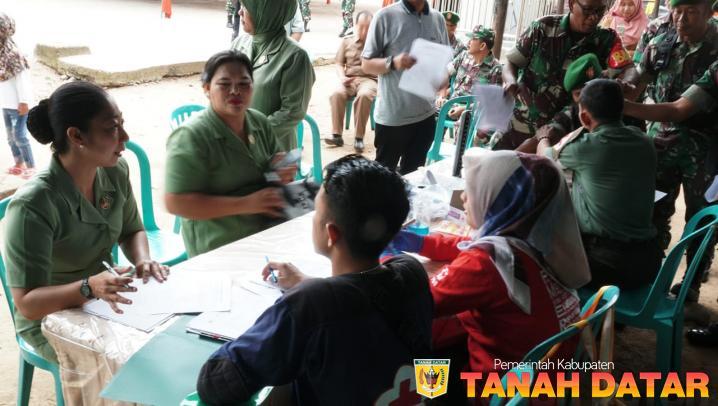 TNI AKSI DONOR DARAH DI JAMBORE KADER PPK BERPRESTASI TINGKAT PROVINSI