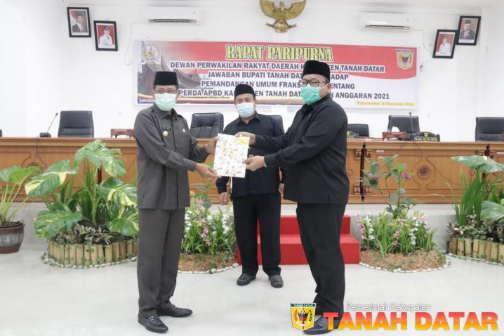 Pjs. Bupati Erman Rahman Sampaikan Jawaban Atas Pemandangan Umum Fraksi tentang APBD 2021