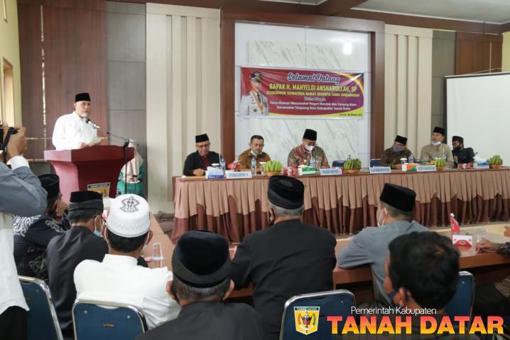 Gubernur Mahyeldi Sambut Baik Aspirasi Tokoh Masyarakat Tanjung Baru