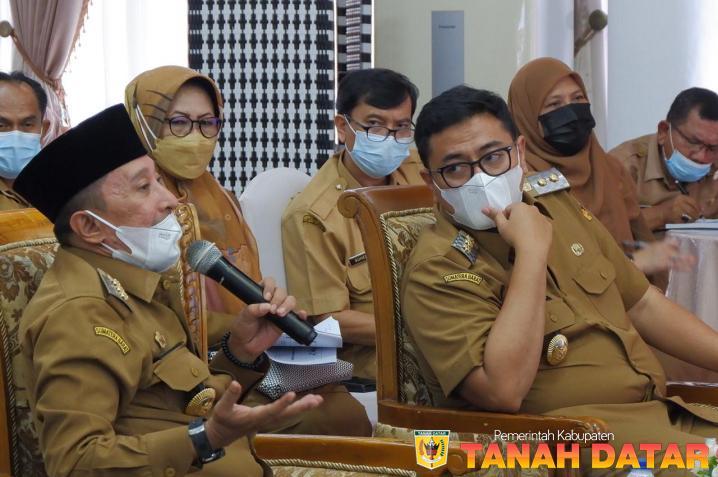 Bupati dan Wabup Beri Masukan Rancangan KLHS RPJMD Kabupaten Tanah Datar 2021-2026