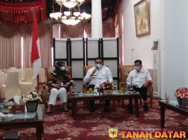 Wabup Richi Aprian Terima Kunjungan Ombudsman RI Perwakilan Sumbar